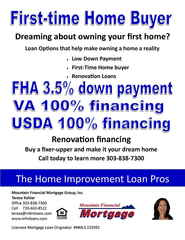 First Time Home Buyer Loan Programs Colorado Home Loans Parker