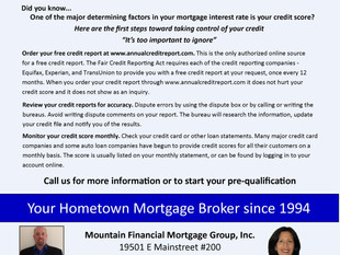 Take control of your credit, it's too important to ignore.