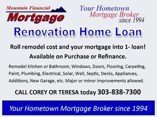 Renovation Loan - Remodel fixer upper