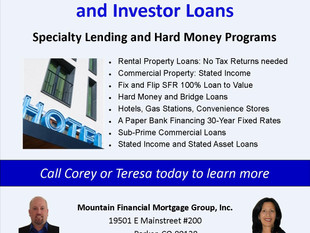 Private Money Commercial and Investment Property Loans