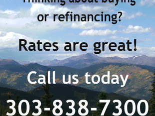 Thinking about buying or refinancing? Rates are great! Call us today.