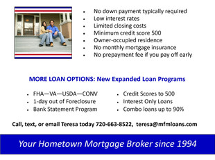 VA Home Loans offer special financing for our military personnel