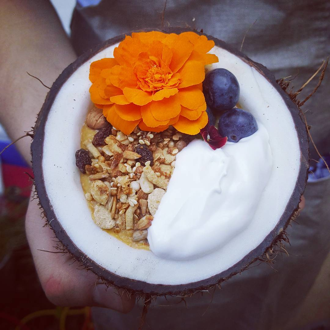 Sexy Brekkie - Muesli | Yoghurt | Blueberry & Marigold @ A Moveable Feast Catering