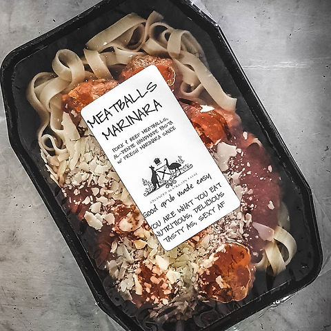 Meatballs Marinara - Ready Meals Reimagined.  Advanced Australian Fayre