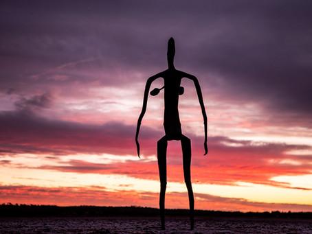 "The world's most remote art installation, ""Inside Australia"" at Lake Ballard"