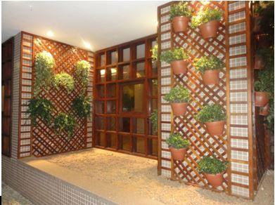 jardim vertical como elemento de decoração