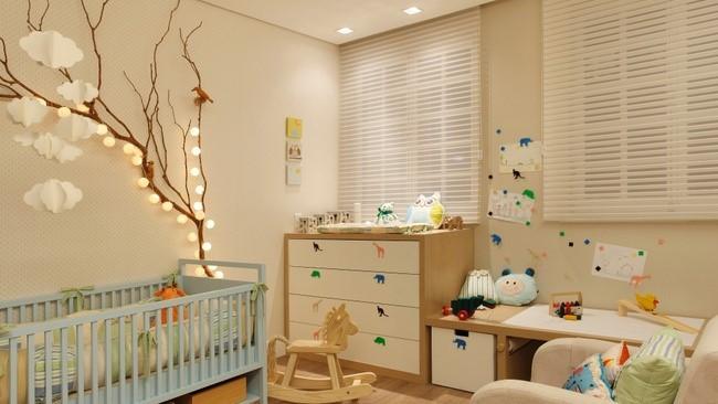 luzes de parede para quarto de bebê
