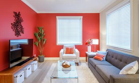 parede pintada em apartamento alugado