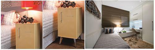 frigobar e estações de trabalho são fundamentais para quartos alugados por temporada