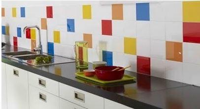 azulejo colorido de cozinha