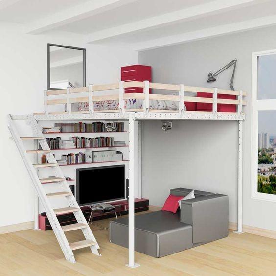 cama-suspensa apartamento studio
