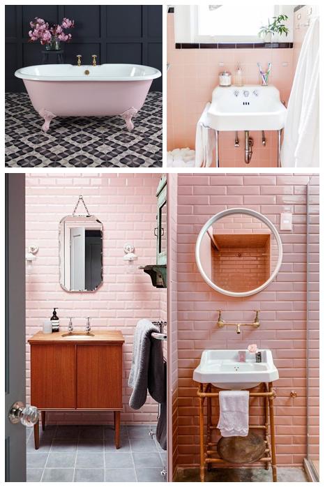 banheiro decoração vintage