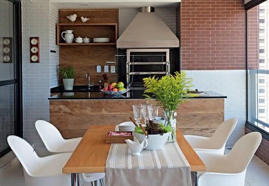 utensílios de cozinha dando charme ao espaço gourmet