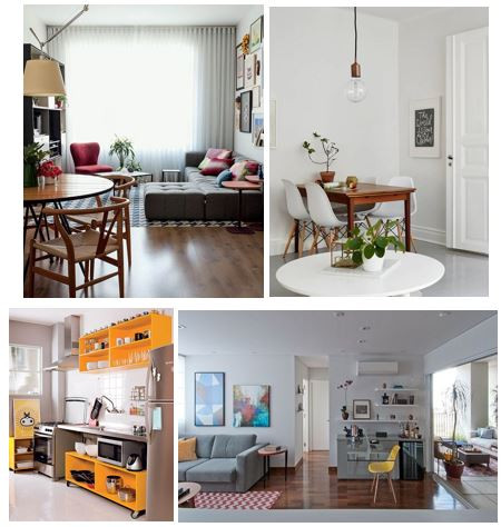 apartamento funcional decorado e equipado com o fundamental