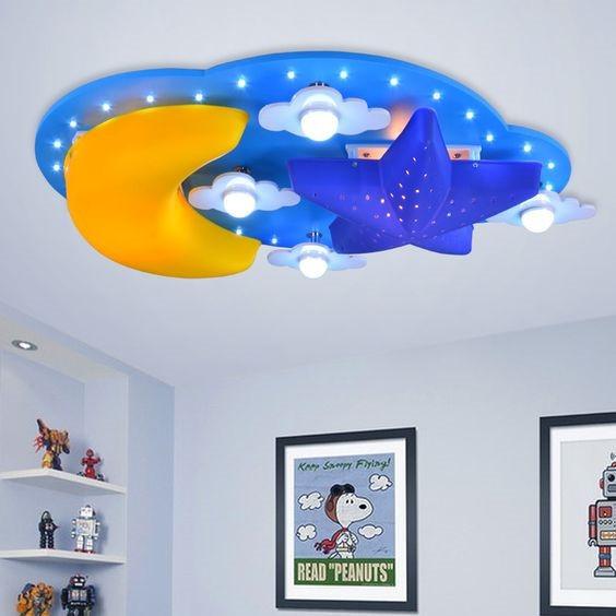luzes de led no teto concentradas