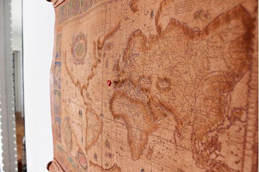 mapa indicando locais por onde já passou