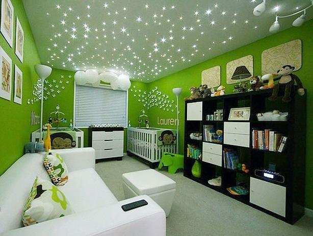luzes de led no teto