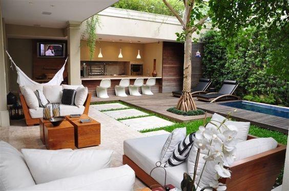 mobiliário versátil para espaço gourmet
