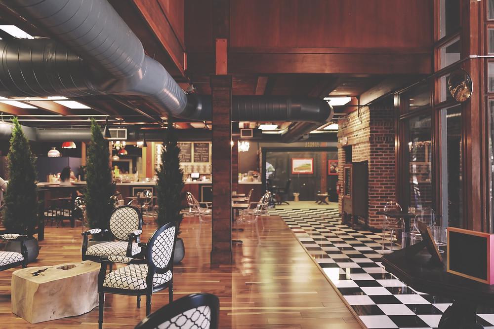 estilo industrial tomou conta de cafés e restaurantes