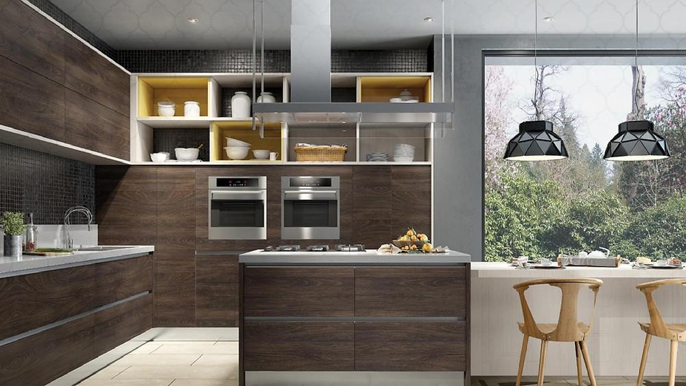 Cozinha com móveis planejados