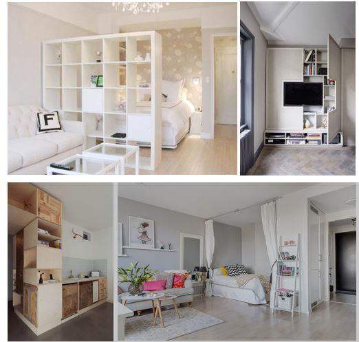 divisórias e móveis planejados para kitinetes