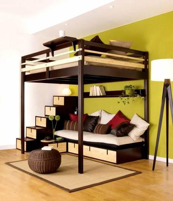 cama-suspensa com sala-de-estar