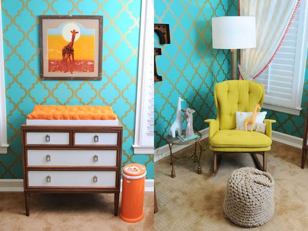 quarto de bebê estilo vintage