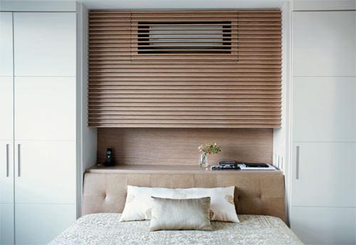 ar-condicionado sobre a cama
