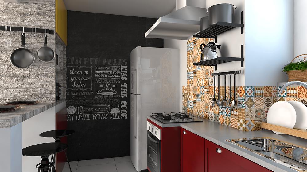 exemplo de projeto de cozinha da Arquilego
