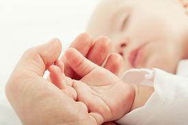 Mão do bebê