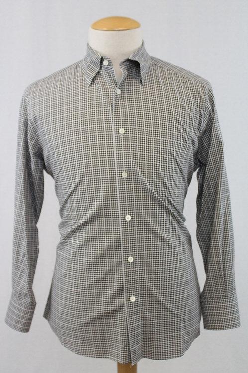 Ermenegildo Zegna Grey Long Sleeve w/Grey Check X-Large