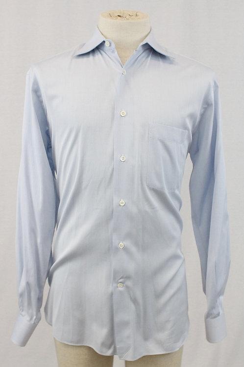 Ermenegildo Zegna Lt. Blue Long Sleeve Solid 15 1/2 x 35