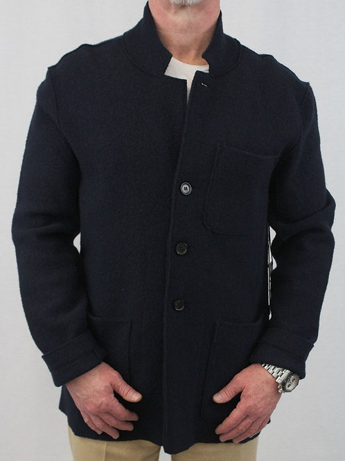 Baldwin Midnight Blue 100% Wool w/Patch Pockets Large