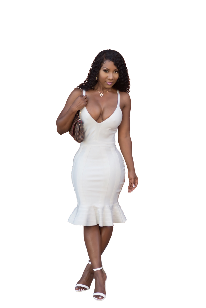 white dress on vector background png.png