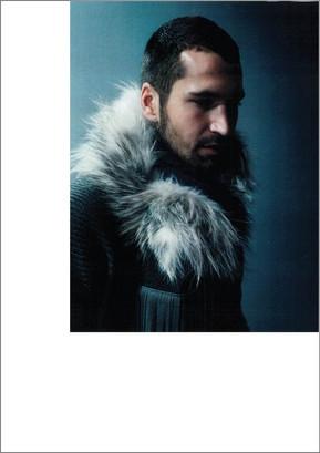 Arctic marble fox scarf