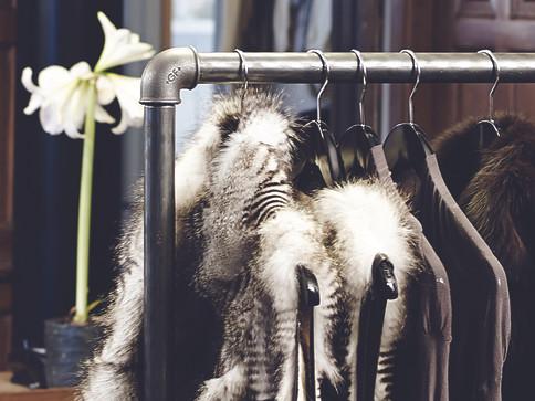 Fur styles rack
