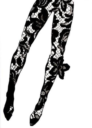 Lace jumpsuit sketch