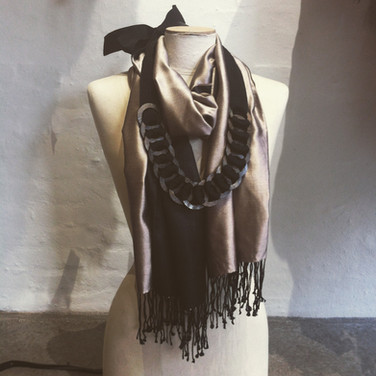 scarf & necklace