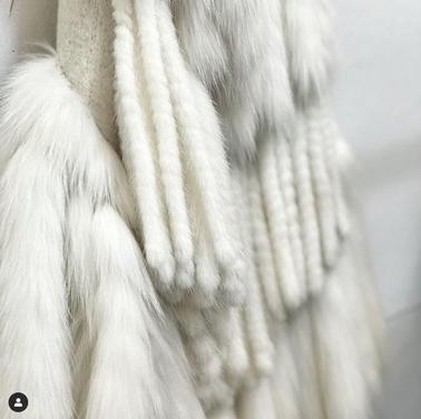Twisted mink & fox on wool