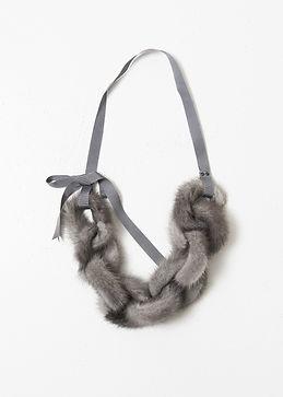 Sapphire mink necklace