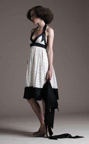 Cotton & silk halter neck dress