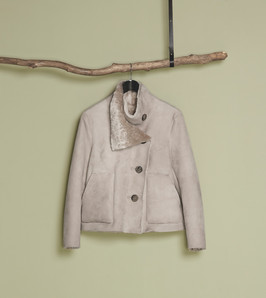 Blush merino lamb jacket