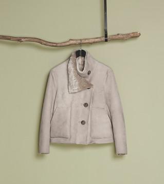 Blush merino lamb jacket