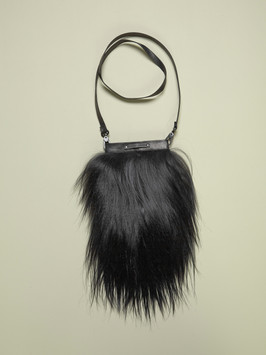 Goat fur purse