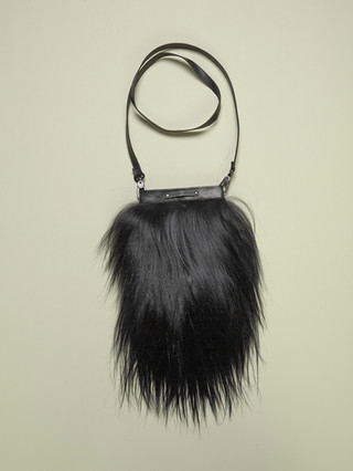 Goat fur purse