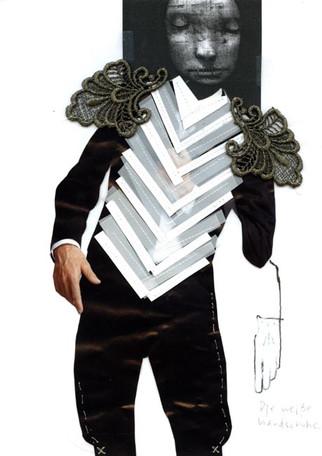 Male dancer costume collage