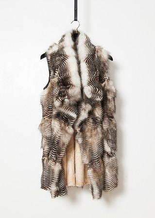 Printed fox vest