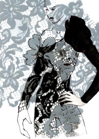 Corset dress sketch