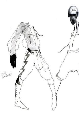 Male dancer costume sketches