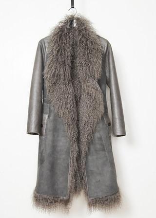 Tibet lamb jacket with shearling sleeves